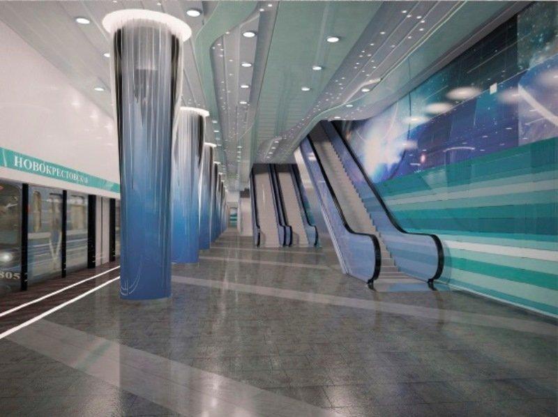 Станция метро «Новокрестовская» Петербург