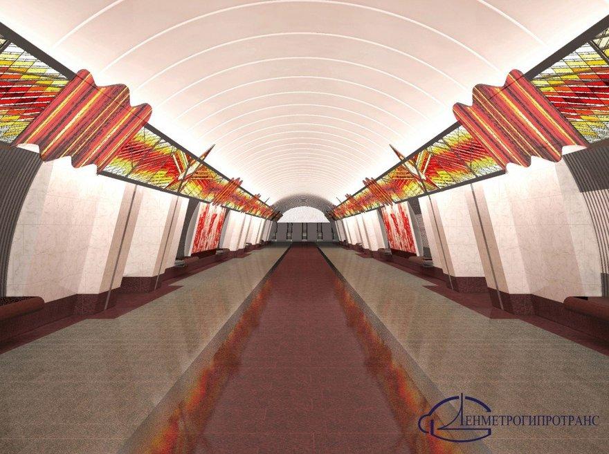 Станция метро «Проспект Славы» Петербург