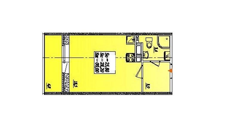 Квартира-студия 28,2 кв. м. на 4-ом этаже в ЖК Тридевяткино царство