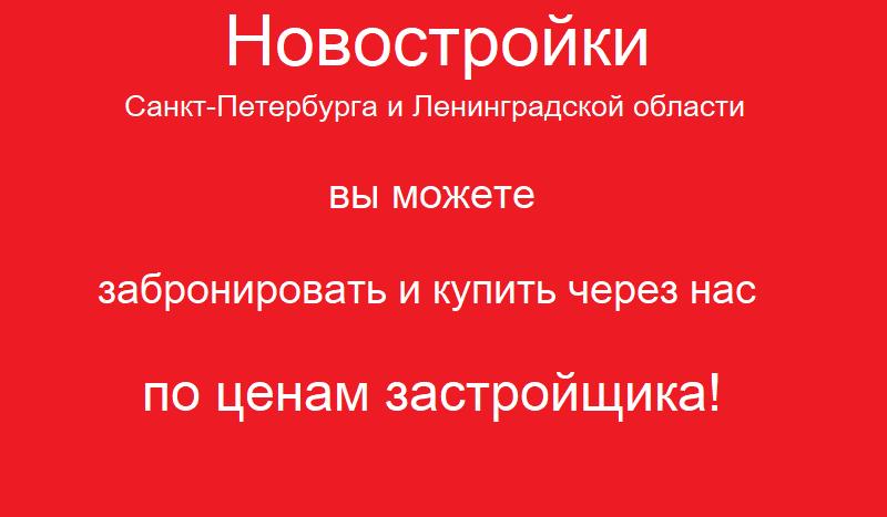 Новостройки Санкт-Петербурга.